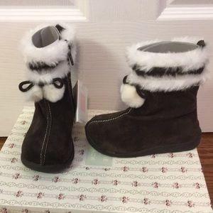 Janie and Jack unused brown boots